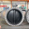 DN900 EPDM disc valve body rubberized centerline flange ductile iron butterfly valve for seawater