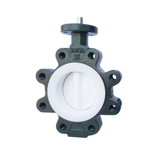 Pn16 Di Body PTFE Coated Lug Butterfly Valve