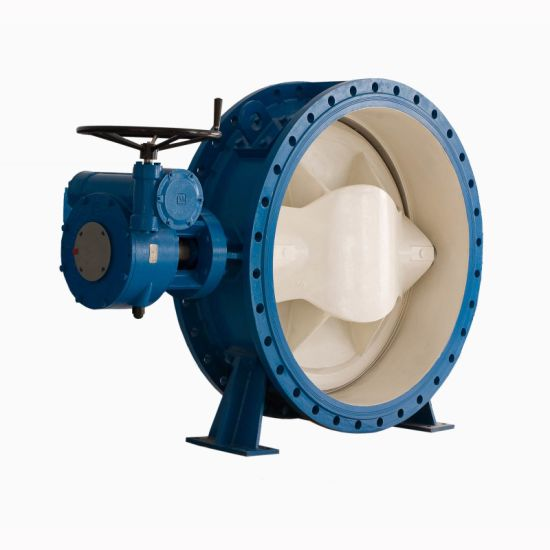 DIN Wcb Electric Double Eccentric Butterfly Valve